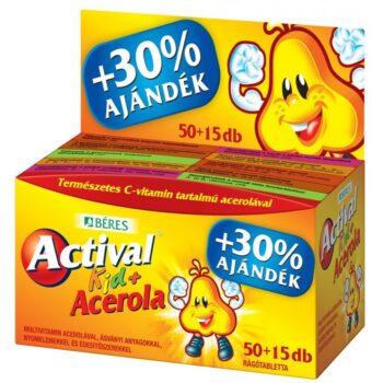 Béres Actival Kid + Acerola rágótabletta + ajándék - 50db