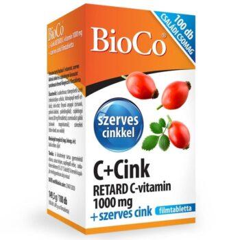 BioCo C+Cink Retard C-vitamin 1000mg + szerves Cink Családi csomag - 100db