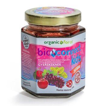 Bioconnect Kids szuperlekvár, béta-glükán tartalmú gyümölcs-zöldség koncentrátum gyerekeknek - 210g