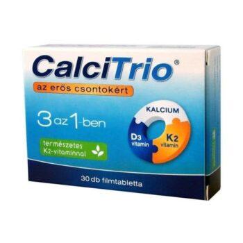 CalciTrio - Kalcium + K2 + D3-vitamin filmtabletta - 30db