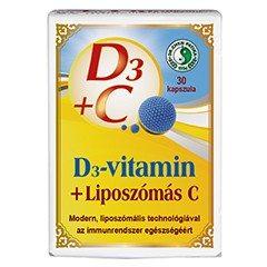 Dr. Chen Liposzómás C+D C-vitamin 300 mg + D3-vitamin 2000NE kapszula - 30db