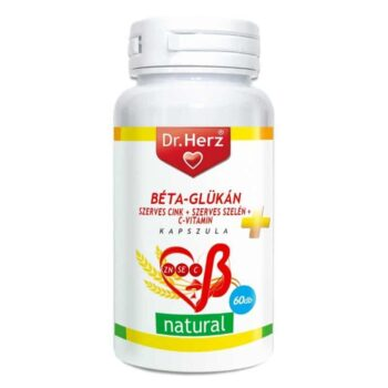 Dr. Herz Béta-Glükán+Szerves cink, szelén+C-vitamin kapszula - 60db
