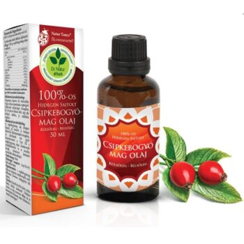 Dr. Natur étkek Csipkebogyómag olaj - 100%-os, Hidegen sajtolt - 50ml
