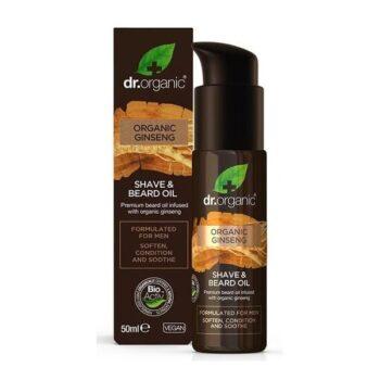 Dr. Organic Men Borotválkozó és szakállápoló olaj bio ginzenggel - 50ml