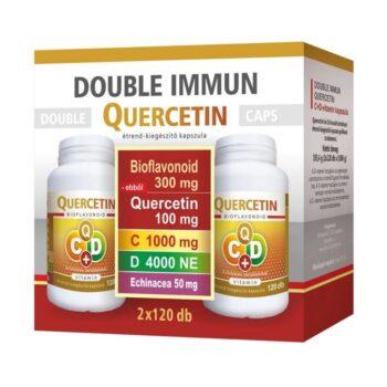 Flavin7 Double Immun Quercetin C+D C-vitamin 1000mg + D-vitamin 4000NE Echinacea kapszula – 2x120db