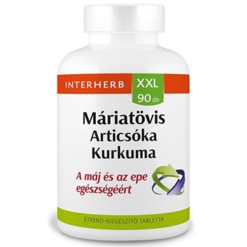 Interherb XXL máriatövis, articsóka, kurkuma tabletta - 90db