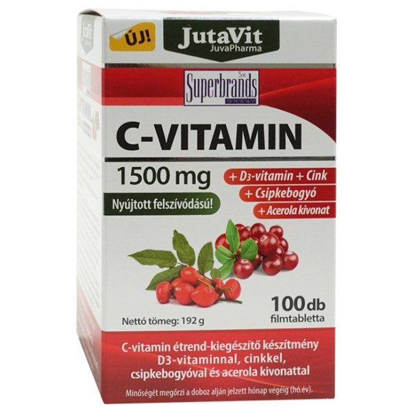 Jutavit C-vitamin 1500mg tabletta - 100db