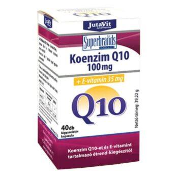 Jutavit Koenzim Q10 100mg + E-vitamin kapszula - 40db
