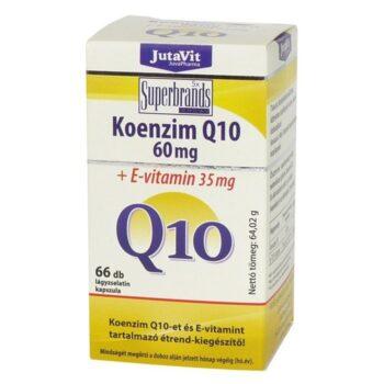 Jutavit Koenzim Q10 60mg + E-vitamin kapszula - 66db