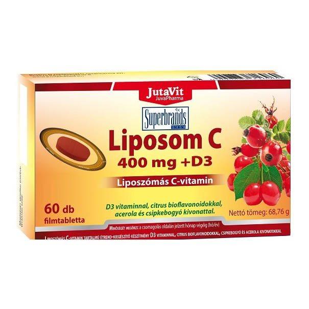 Jutavit Liposom liposzómás C+D C-vitamin 400mg + D3-vitamin 400NE tabletta - 60db