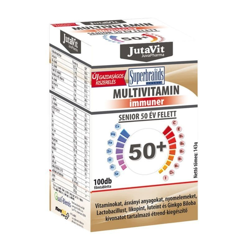Jutavit Multivitamin Senior 50+ tabletta - 100db