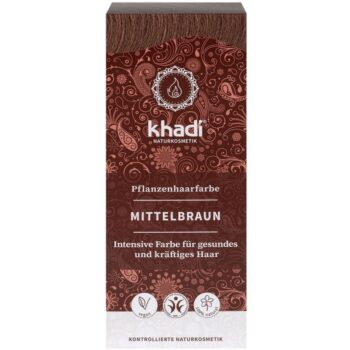 Khadi Növényi hajfesték - középbarna - 100g