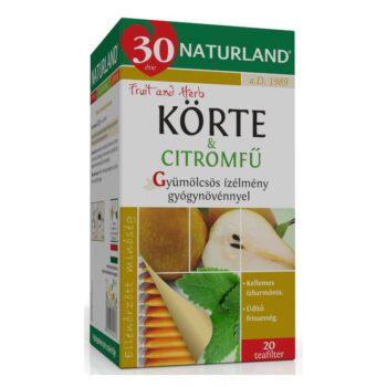 Naturland gyümölcstea körte-citromfű tea - 20 filter