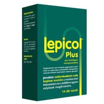 Lepicol Plus székrekedés elleni por - 14 tasak