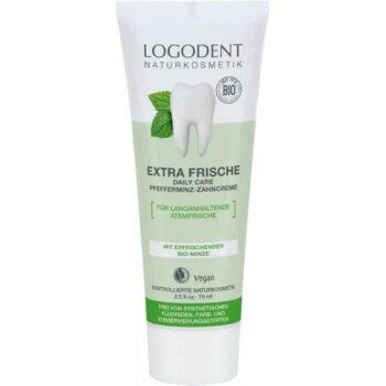 Logodent Extra Fresh Daily Care fogkrém bio borsmentával - 75ml