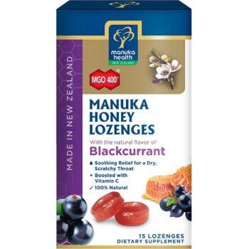 Manuka MGO 400+ mézes cukorka fekete ribizlis - 65g