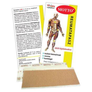 Motto fájdalomcsillapító és reumatapasz sárga - 2db 15x5 cm-es tapasz