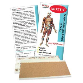 Motto fájdalomcsillapító és reumatapasz kék - 2db 15x5 cm-es tapasz