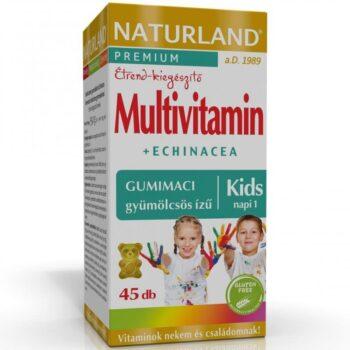 Naturland Multivitamin+Echinacea gumitabletta - 45db