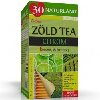 Naturland Zöld tea citromos - 20 filter