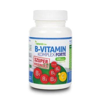 Netamin B-vitamin Komplex Forte tabletta - 120db