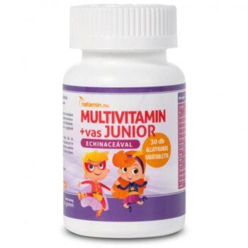 Netamin Multivitamin+vas JUNIOR rágótabletta - 30db