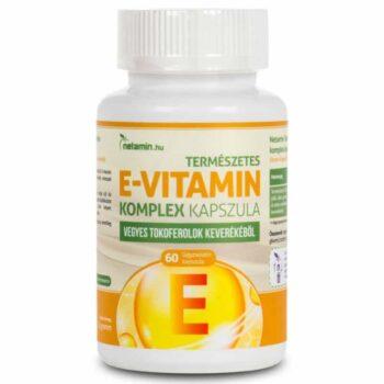 Netamin Természetes E-vitamin komplex kapszula - 60db