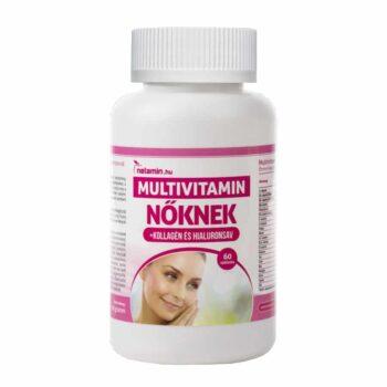 Netamin Multivitamin Nőknek kollagénnel és hialuronsavval - 60db