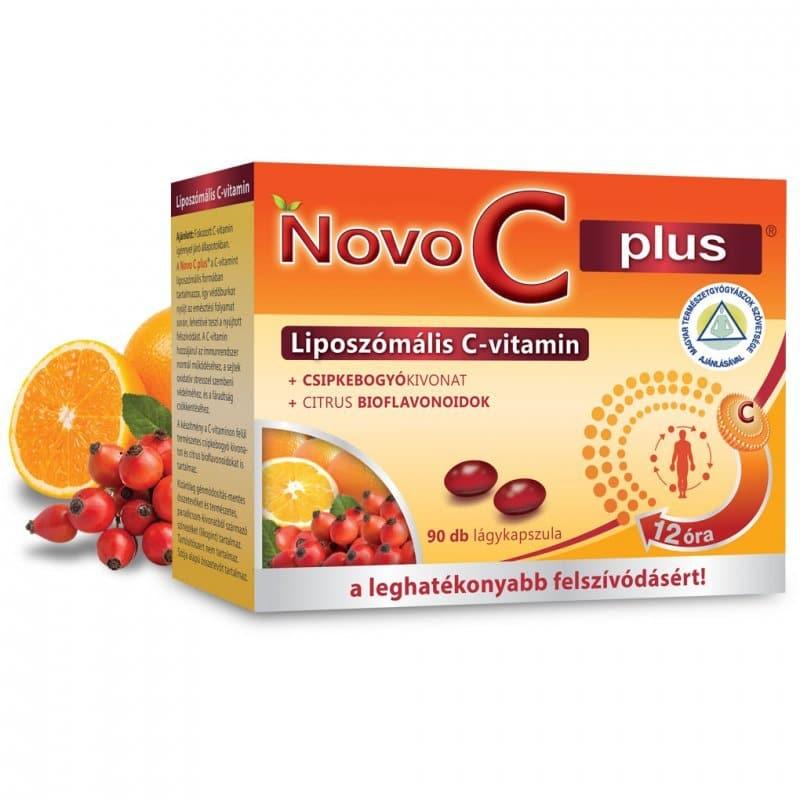 Novo C Plus liposzómális C-vitamin kapszula - 90db