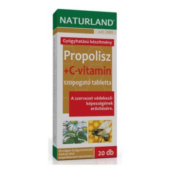 Naturland Propolisz + C-vitamin tabletta - 20 db