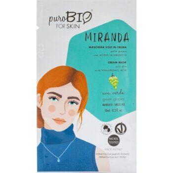 puroBIO Miranda krém arcmaszk zöld szőlővel - 10ml
