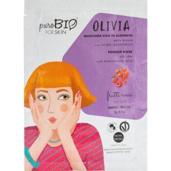 puroBIO Olivia poralapú lehúzható arcmaszk piros gyümölcsökkel - 13g