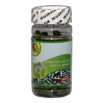 Sun Moon Spirulina/Zöld alga lágyzselatin kapszula - 60db