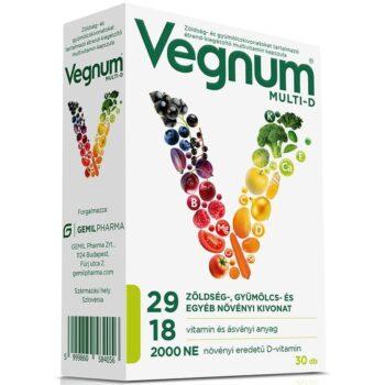 Vegnum Multi-D multivitamin kapszula - 30db