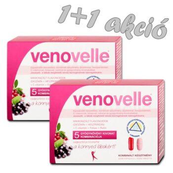 Venovelle 5 - A vénás keringés támogatásáért 1+1 akció - 2x20db tabletta + 2x20db kapszula