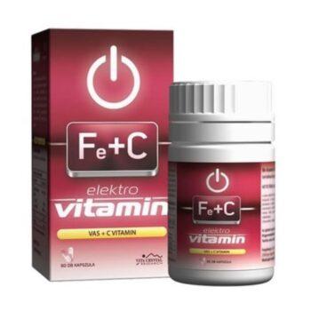 Vita Crystal E-lit Vitamin - Vas + C-vitamin kapszula - 60db