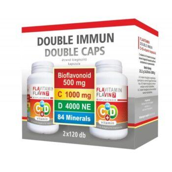 Vita Crystal Flavitamin Double Immun C+D C-vitamin 500mg + D-vitamin 2000NE kapszula – 2x120db