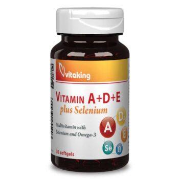 Vitaking A-D-E-Szelén komplex gélkapszula - 30db
