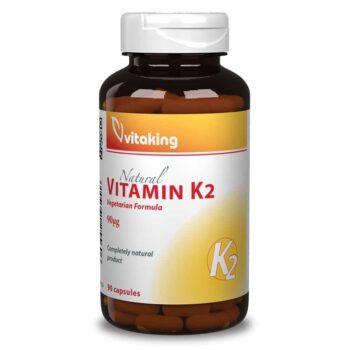 Vitaking K2-vitamin 90ug kapszula - 90db