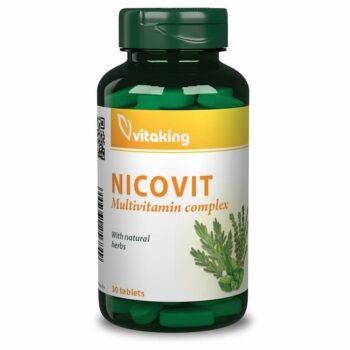 Vitaking Nicovit komplex multivitamin dohányosoknak - 30db