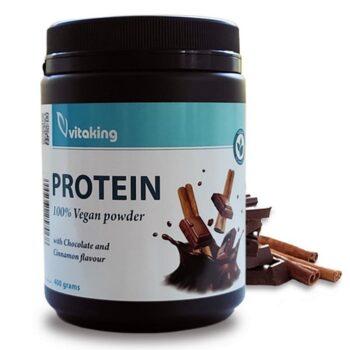 Vitaking Protein csoki-fahéj növényi fehérje italpor - 400g