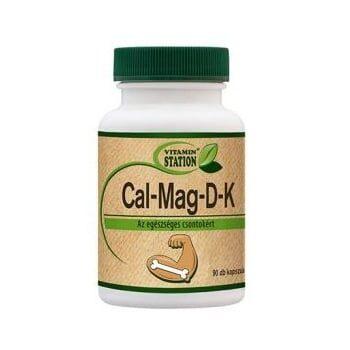 Vitamin Station Cal+Mag+D+K kapszula - 90db