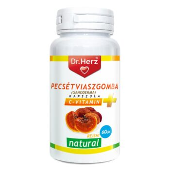 Dr. Herz Pecsétviaszgomba (Ganoderma, Reishi) + C-vitamin kapszula - 60db