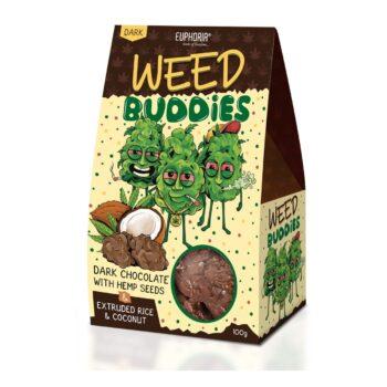 Euphoria Weed Buddies étcsokoládé kendermaggal - 100g