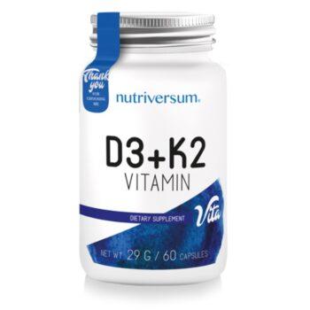 Nutriversum D3+K2 vitamin kapszula - 60db