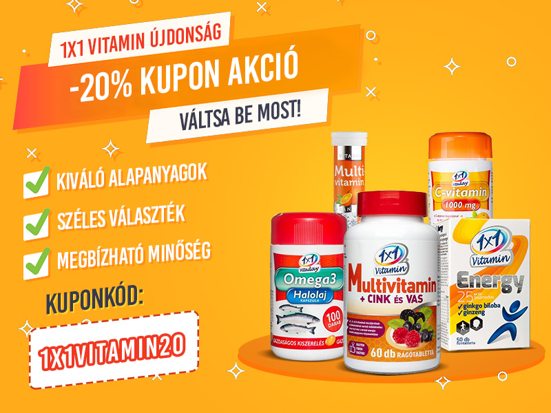 -20% kupon kedvezmény minden 1x1 Vitamin termékre!