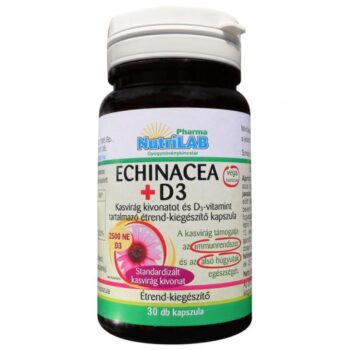 Nutrilab Echinacea + D3-vitamin kapszula - 30db
