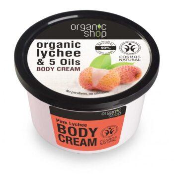Organic Shop ''Pink licsi'' testápoló krém - 250ml