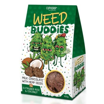 Euphoria Weed Buddies tejcsokoládé kendermaggal - 100g