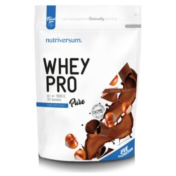 Nutriversum Pure Whey Pro mogyoró-csokoládé - 1000g